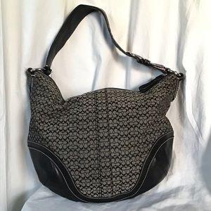 Coach Soho Leather Textile Print Shoulder Bag